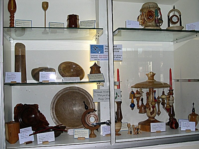 Display cabinet at 'The Fold'
